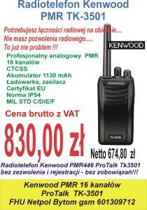 Promocja Kenwood TK3501 PMR
